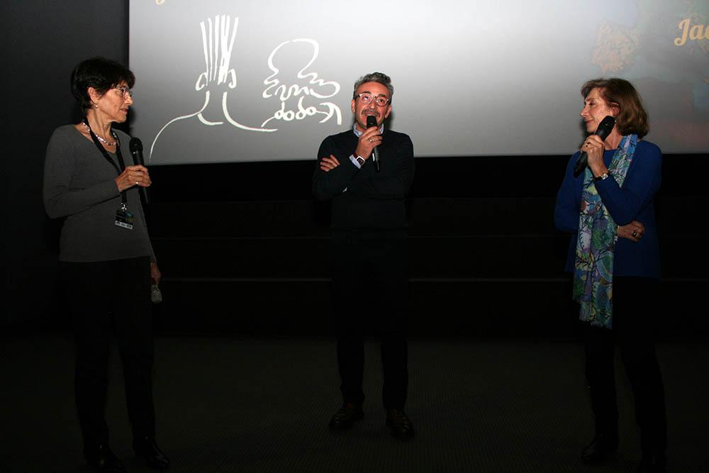 L'acteur Filippo Luna pour le film Sicilian Ghost Story en compagnie de Monique Plasseraud et Viviane Perret