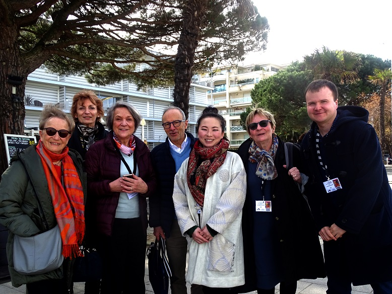 Anne, Anyck, Catherine Cadou, André, Takami, Martine et Pierre