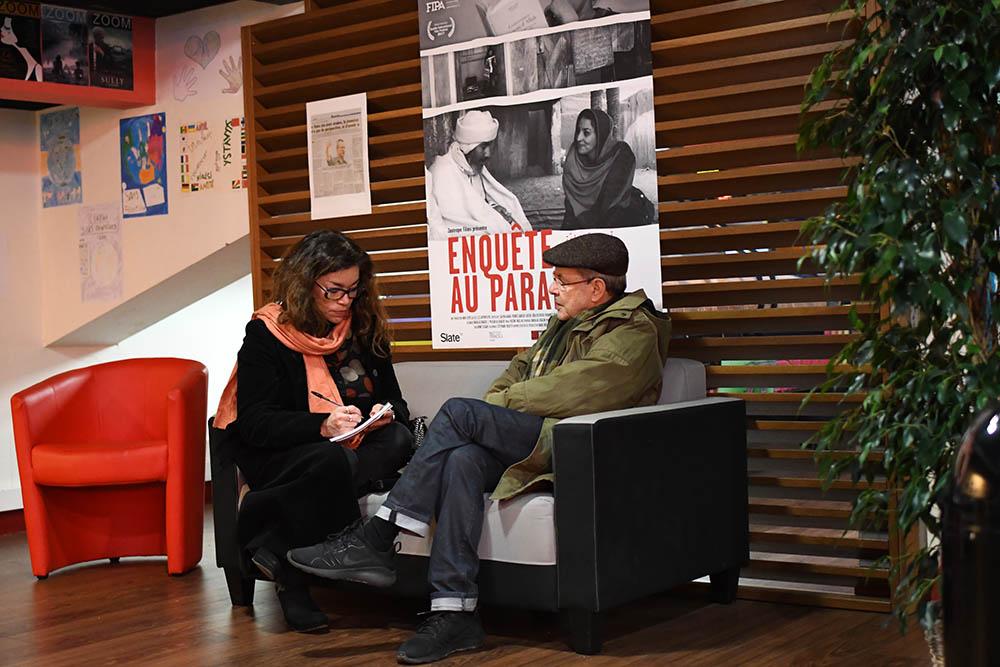 Le réalisateur Merzak Allouache interviewé par Sabine Luong du journal Sud-Ouest