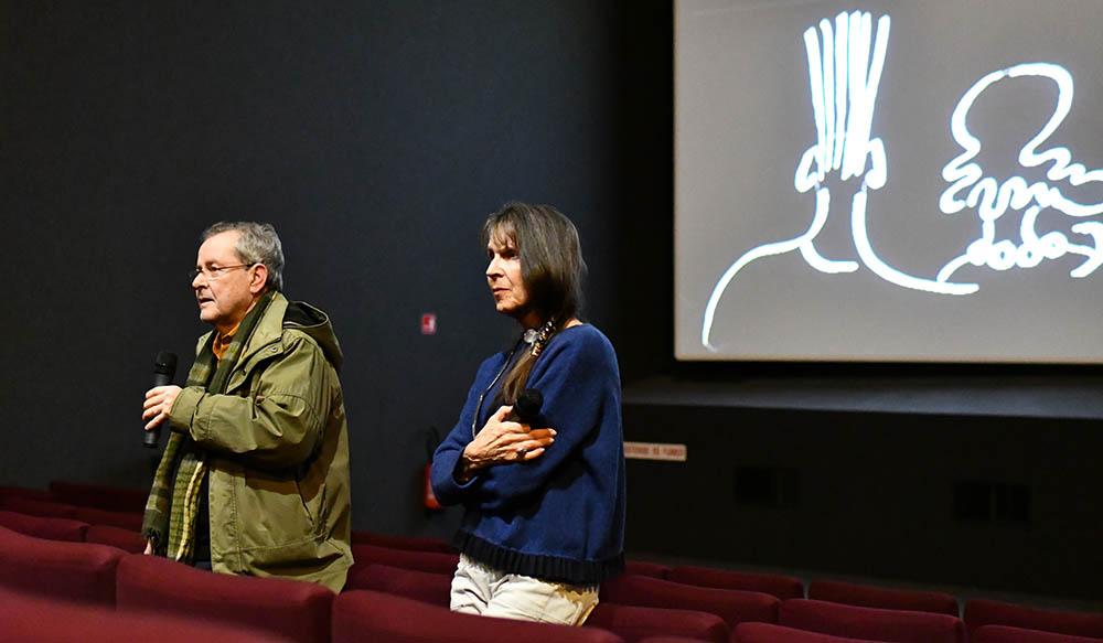 Le réalisateur Merzak Allouache et José Léandri pour le film Enquête au Paradis