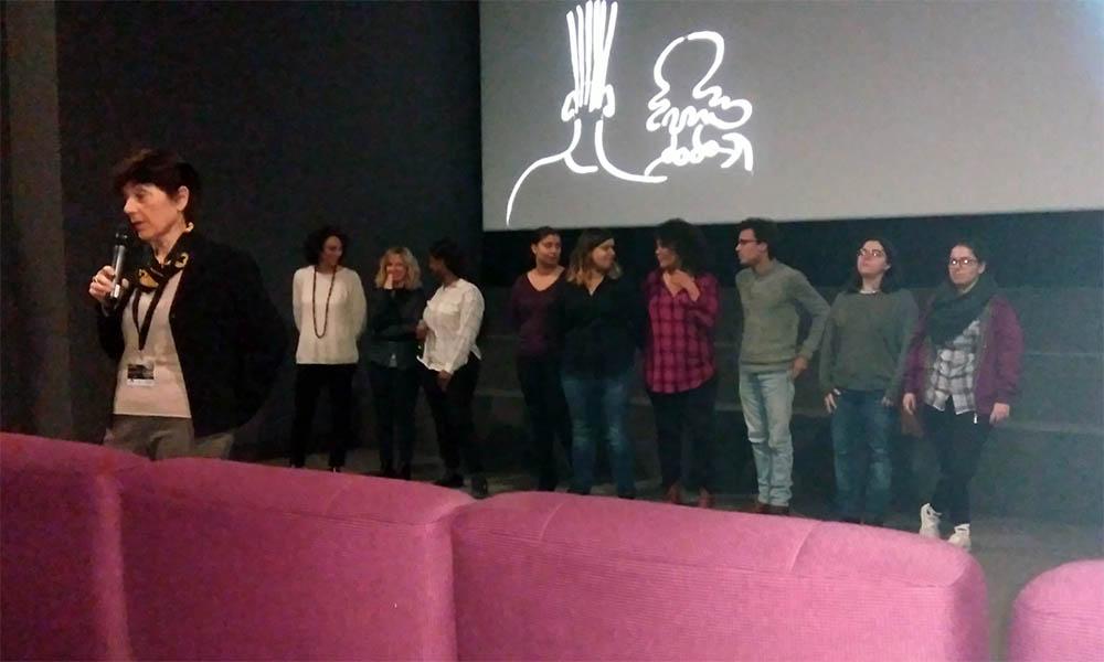 Monique Plasseraud et les étudiants de l'Université Bordeaux Montaigne présentent un court métrage