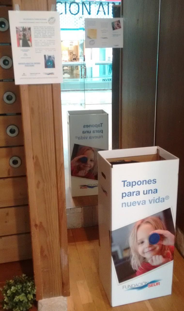 Tapones solidarios Fundación SEUR