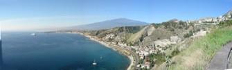 vista aerea baia di taormina