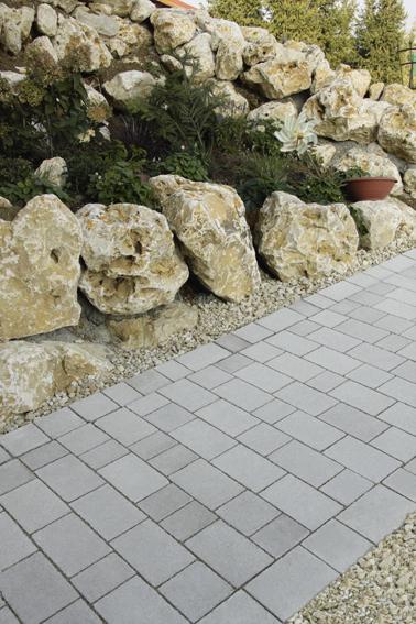 Römerpfad naturgrau, Reihenverband