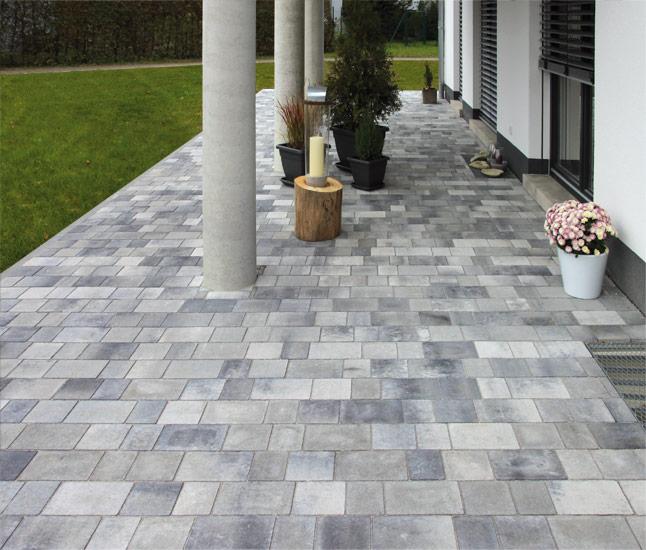 Römerpfad dolomit-marmoriert, Reihenverband