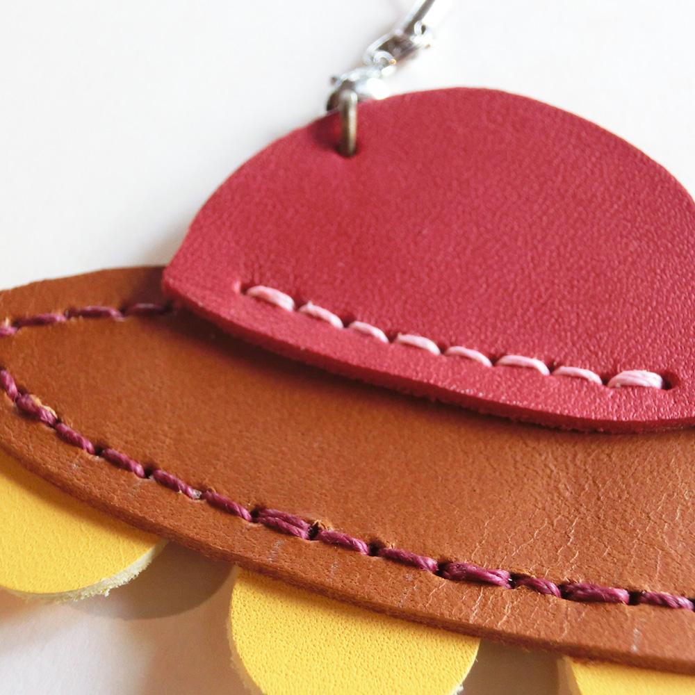 革のチャーム(ストラップ)・・・UFO(牛革/手縫い)
