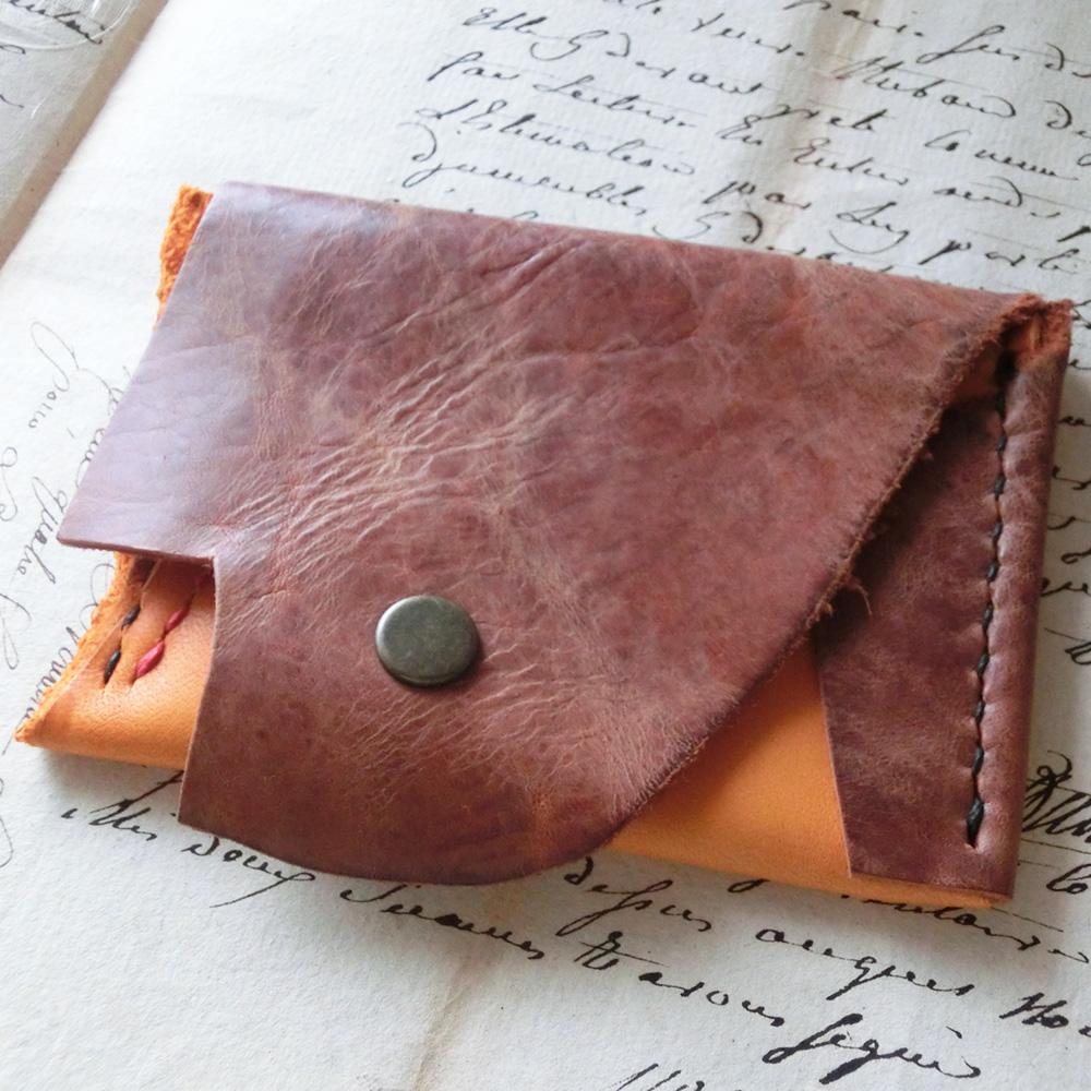 コインケース(牛革・馬革/手縫い)・・・型紙無し・一点物