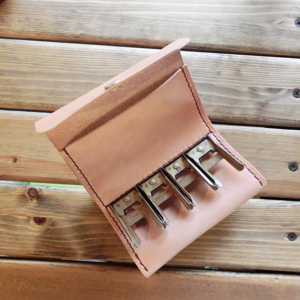 コインキャッチャー(牛革・手縫い)