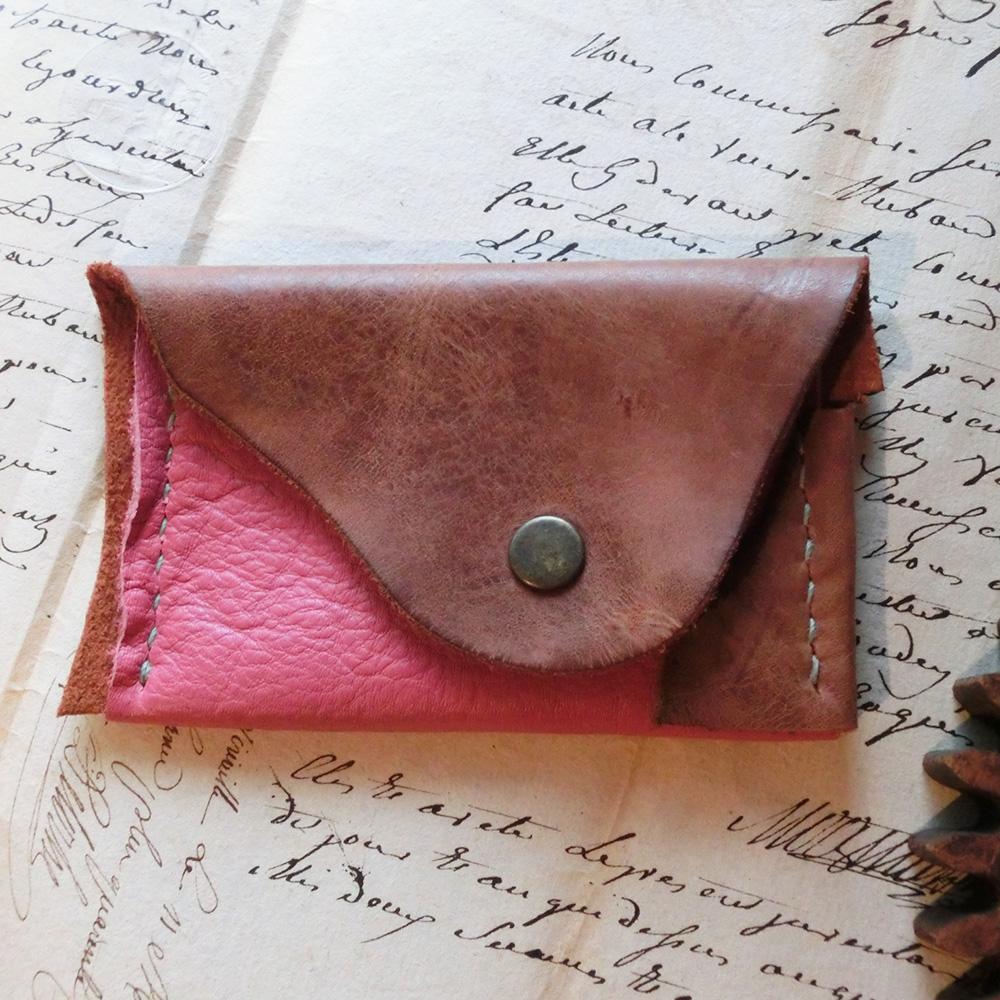 コインケース(牛革/手縫い)・・・型紙無し・一点物