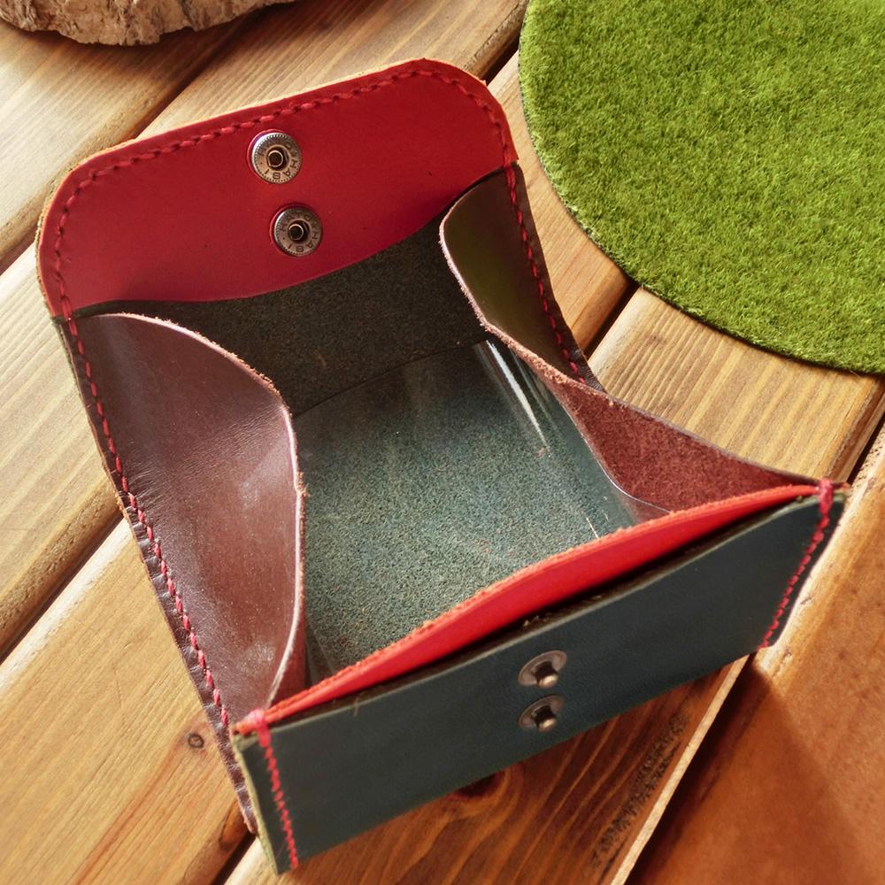 BOX型コインケース(牛革/手縫い)