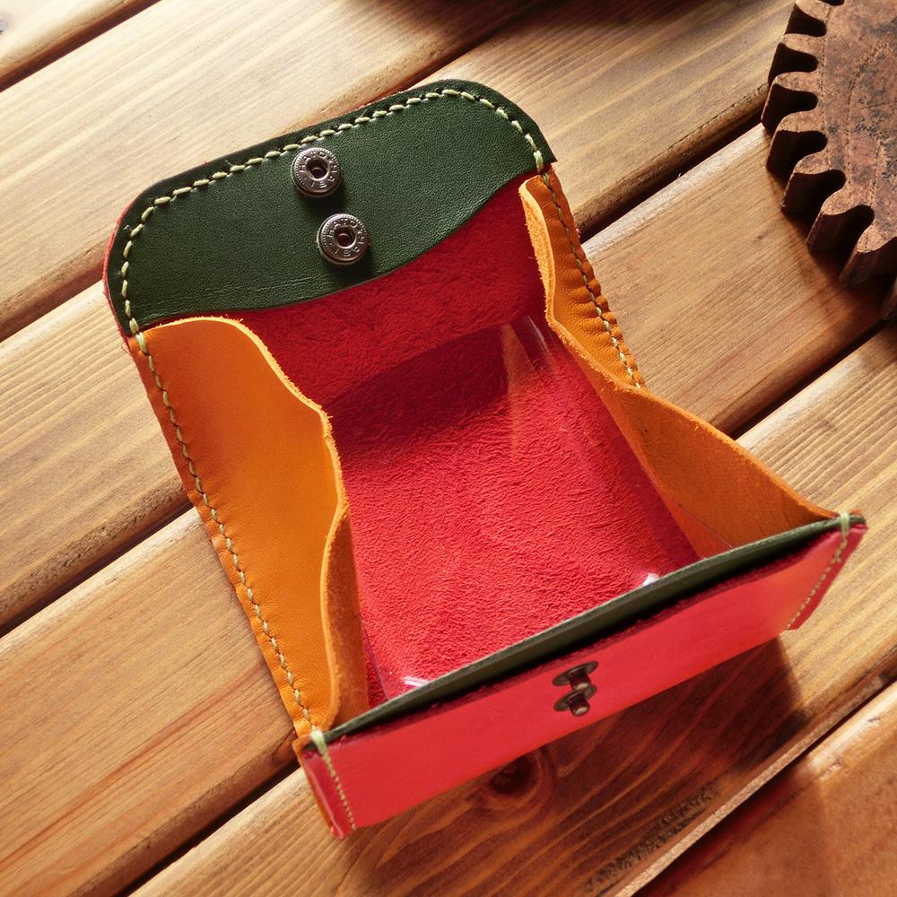 BOX型コインケース(牛革・馬革/手縫い)