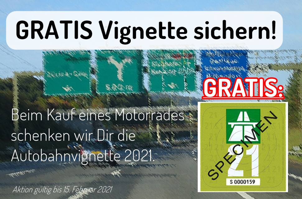 Gratis Autobahnvignette 2021 sichern!