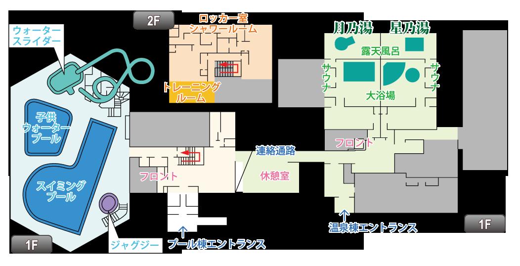 ゆ~ぷる木崎湖 施設MAP