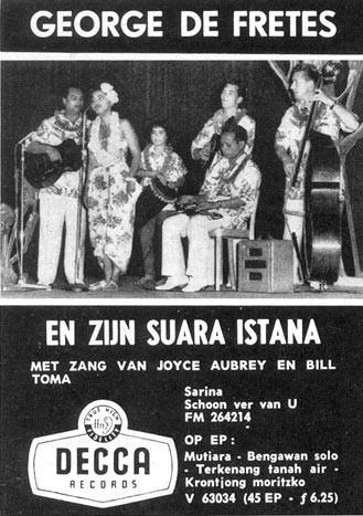 Advertentie in de Tuney Tunes van december 1958 (1e plaatopnamen)