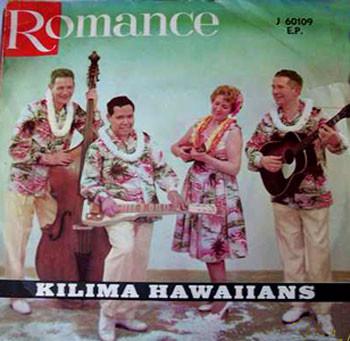 DE KILIMA HAWAIIANS - ROMANCE EP vlnr: Wim van Herpen - Rudi Wairata - Mary Buysman - Bill Buysman