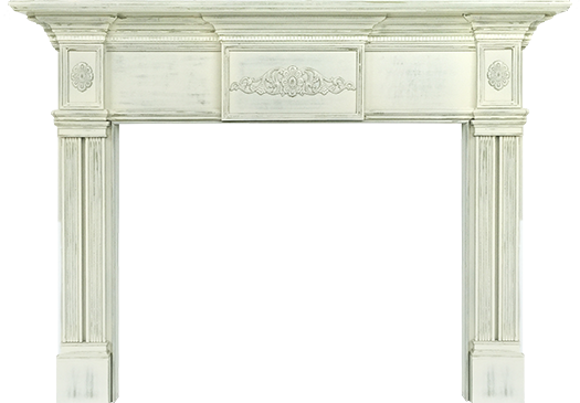 Los Angeles Wood Fireplace Mantel - Luxury Decorative Design