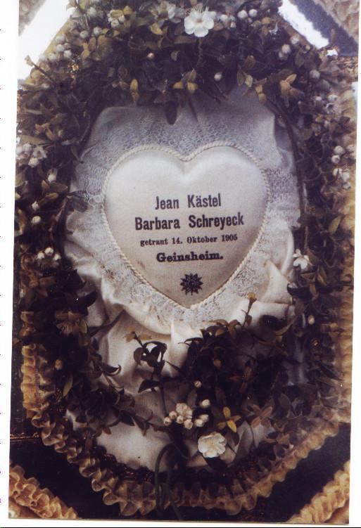 Detail des Hochzeitsbildes des Ehepaares Kästel Johannes XI