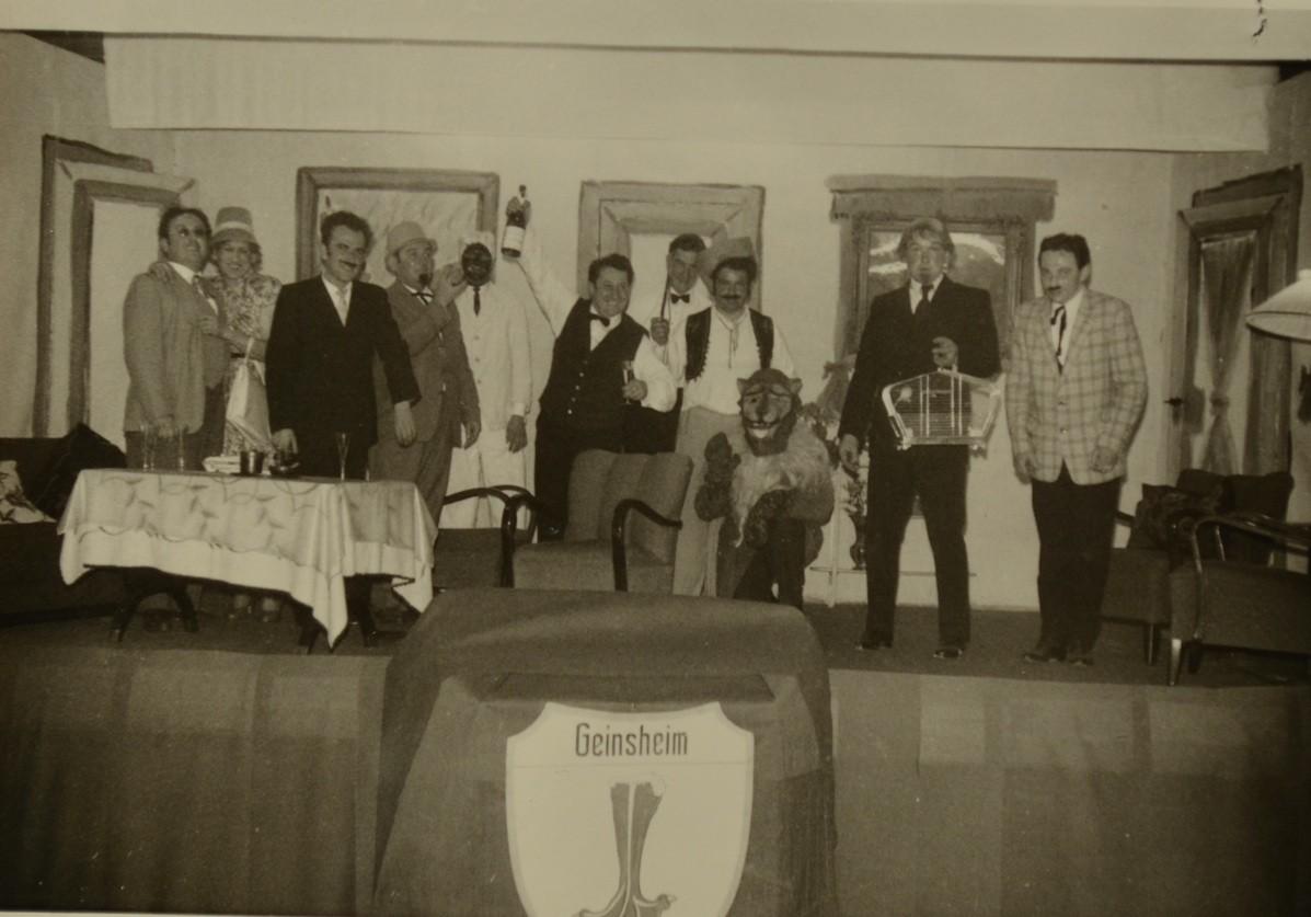 "Theatergruppe 1956 (""Sansibar"") mit Günter Stadler, Phillip Adam, Richard Wagner, Reinhold Johaas, Eugen Seeber, Johann Urich"