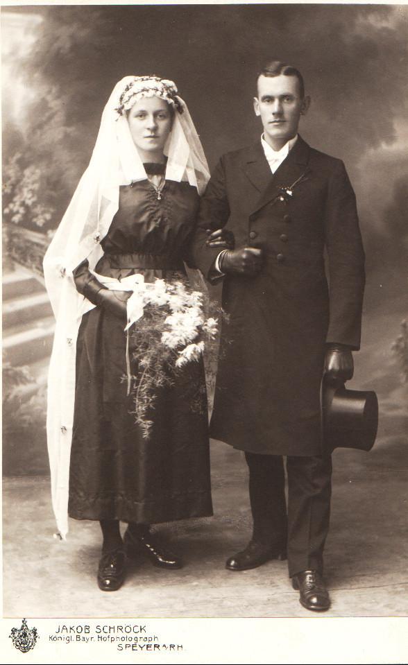 Ehepaar Kästel Josef und Josephine geb. Henrich; Eltern von Kästel Erich