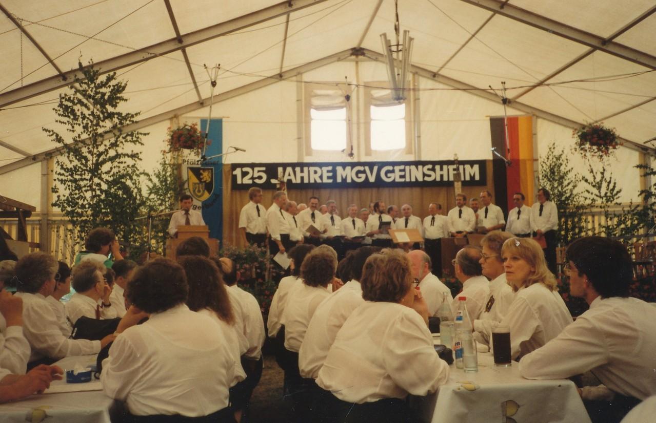 Festzelt auf dem Schulsportplatz im 125. Jubiläumsjahr 1993