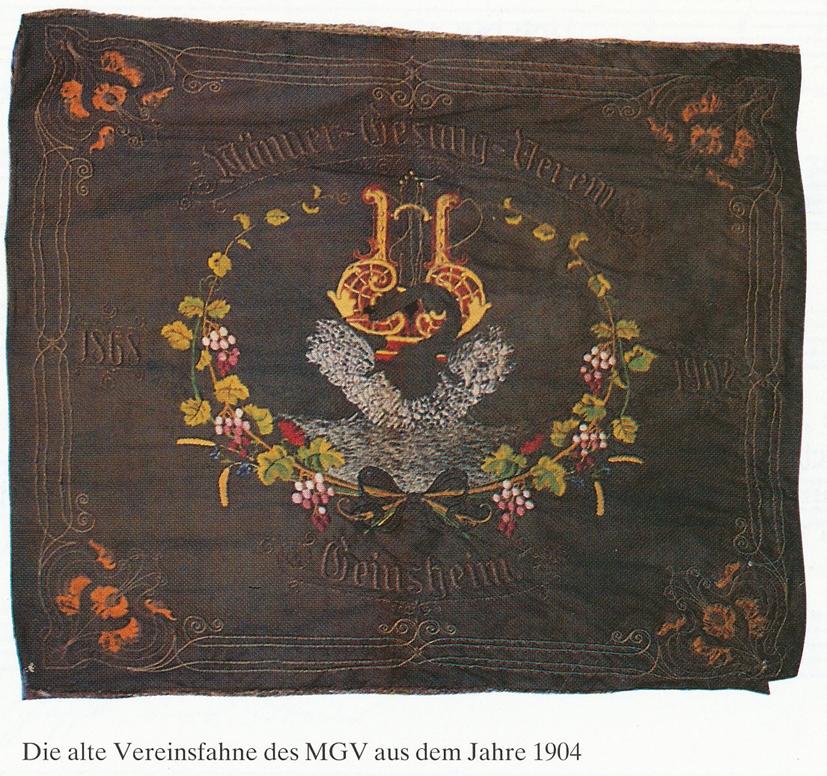 Die alte Fahne des MGV aus dem Jahr 1904