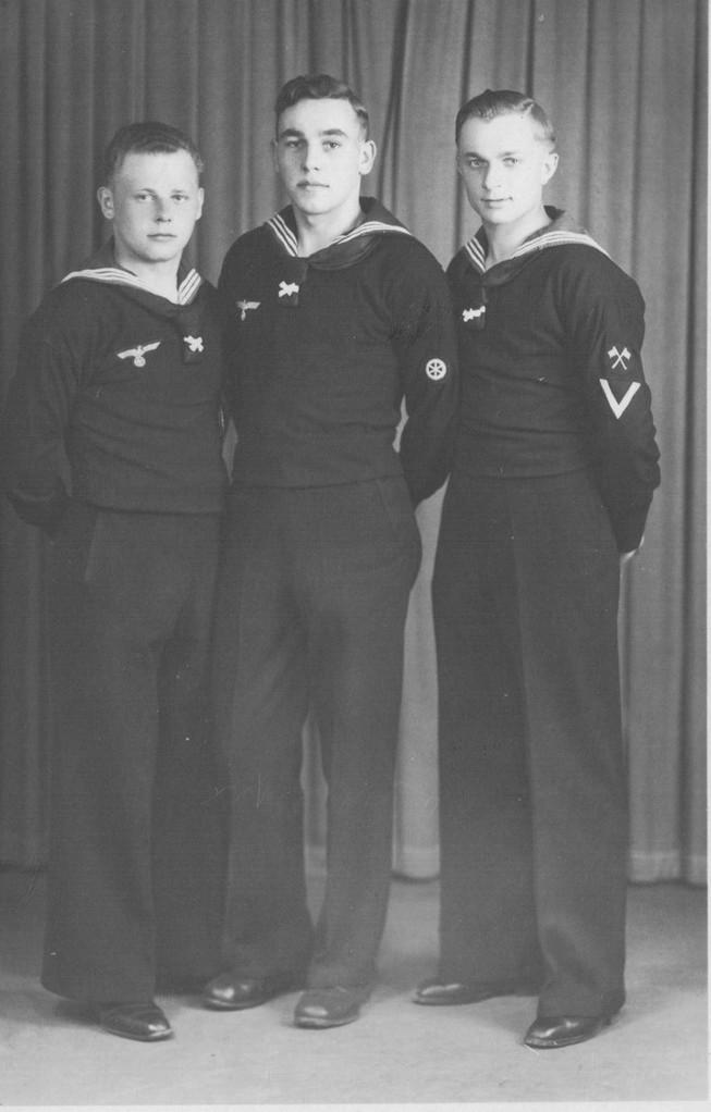 NN, Willi Armbrust und Ludwig Sprißler