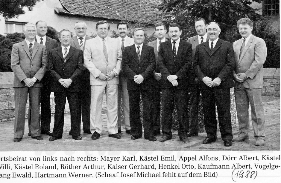 Ortsbeirat mit Ortsvorsteher Albert Dörr