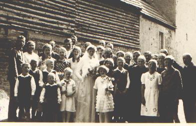 Hochzeitsgesellschaft 1938