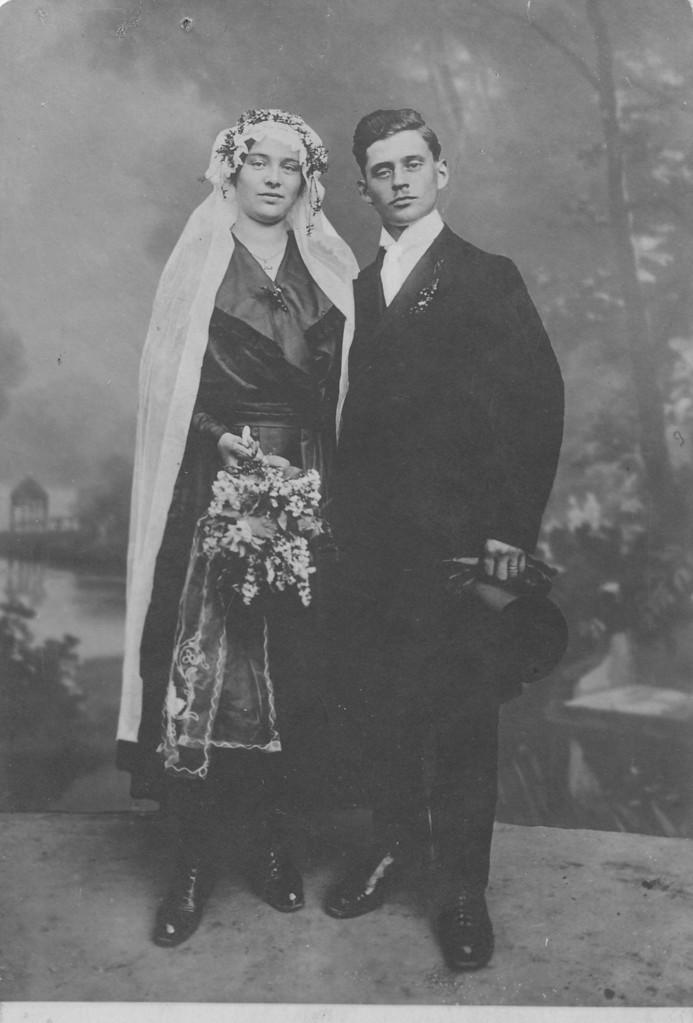 Ehepaar Appel Karl (1. Ehemann von Katharina) und Katharina geb. Steinmüller (Spanier-Kätsche - Wirtin im Engel)