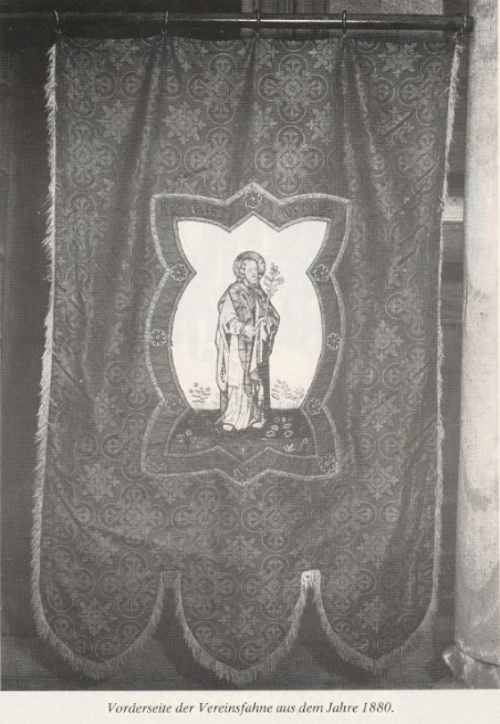 Vorderseite der Vereinsfahne aus dem Jahre 1880