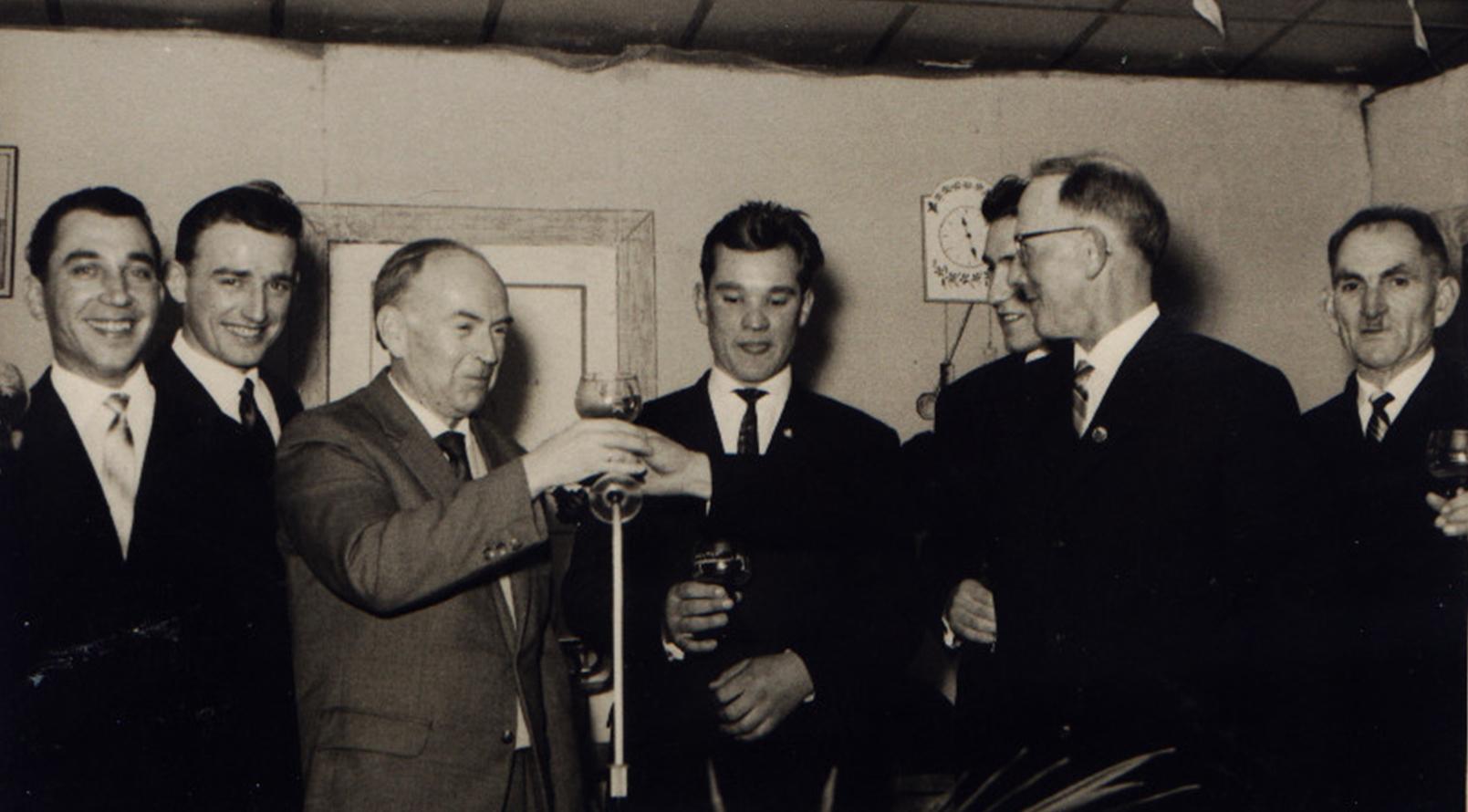 Dirigent Willi Kohl und Vorsitzender Hilschmann 1962