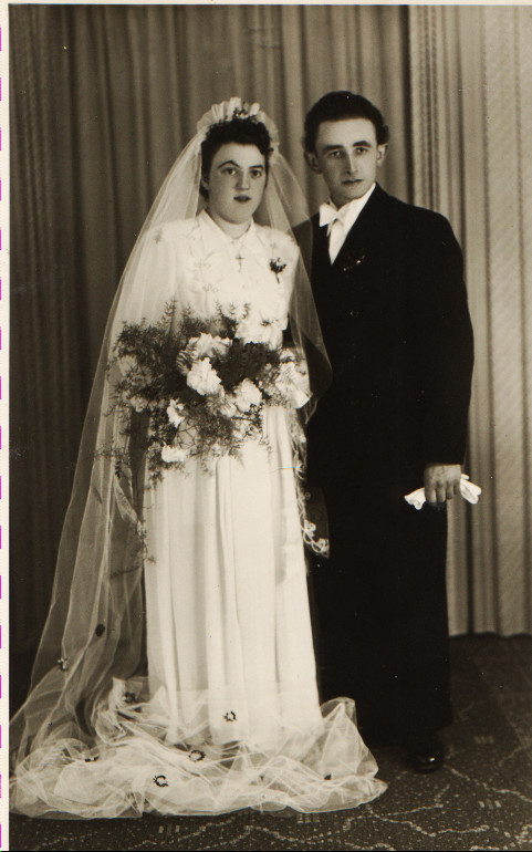 Brautpaar Appel Willi und Maria geb. Kästel