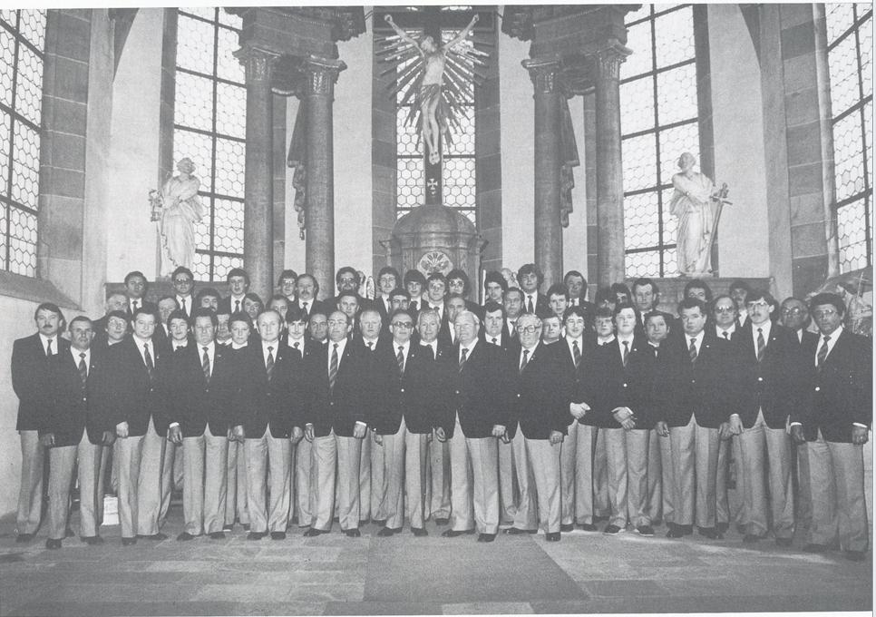 Die Chorsänger zum 190jährigen Jubiläum im Jahre 1981