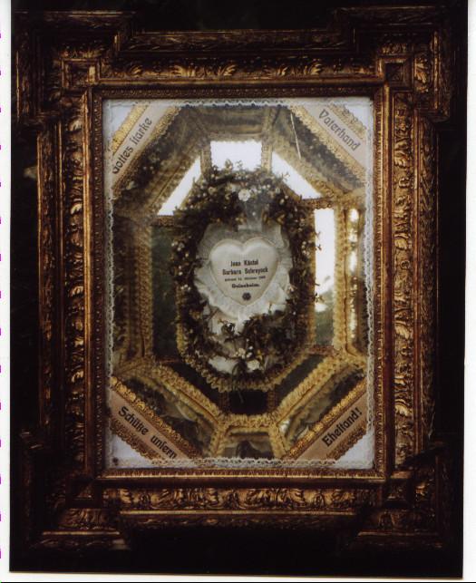 Hochzeitsbild des Ehepaares Kästel Johannes XI und    geb. Schreieck