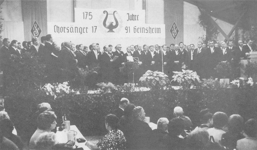 Chorsänger beim Festakt zum 175jährigen Jubiläum