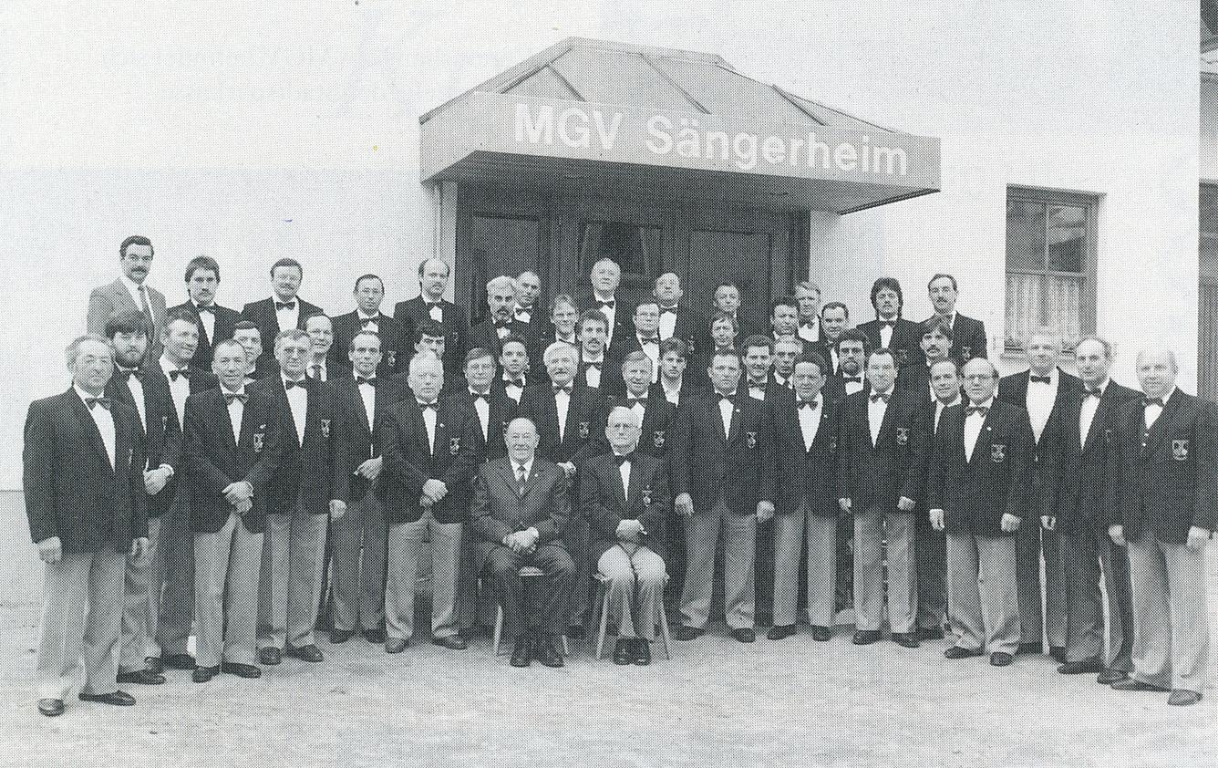 Der Chor des MGV im Jahre 1988