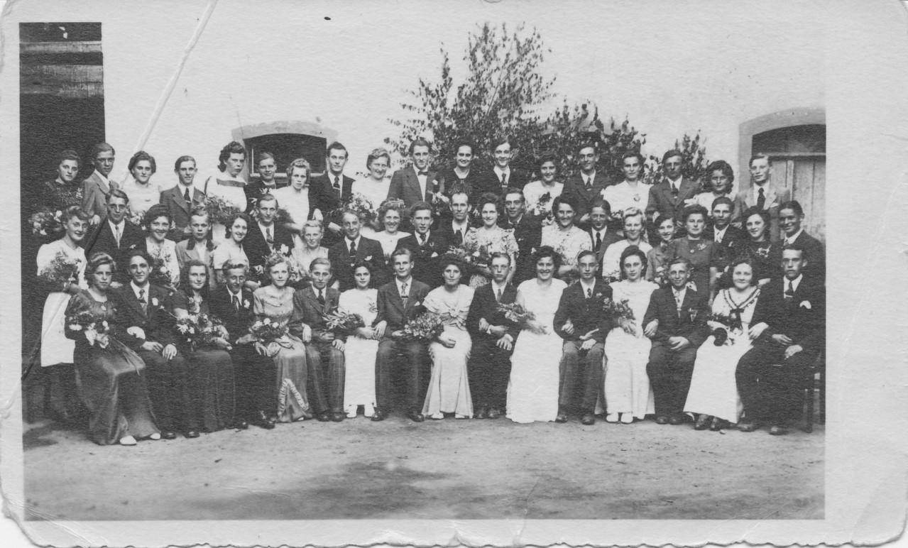 Tanzkränzel Jahr 1929 bis 1931, u.a. Andreas Mayer, Edmund Weber, Mathias Seithel,