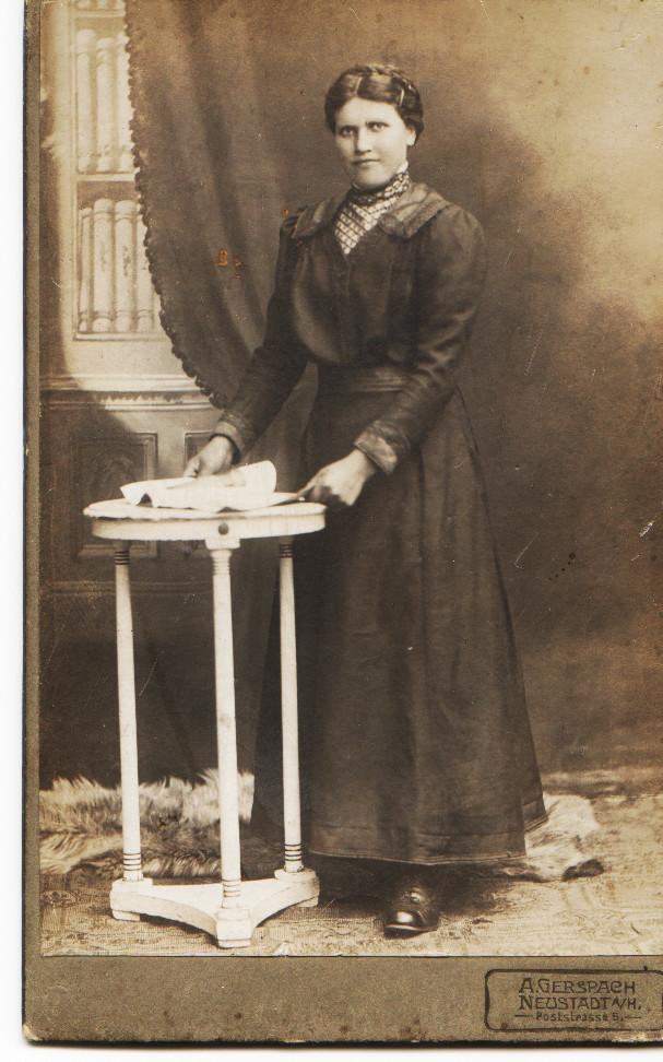 Anna Schneider geb. Schneider, Mutter von Rita Schneider und Frau von Georg Schneider