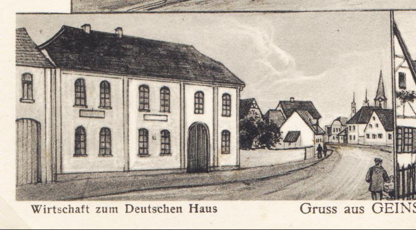 Wirtschaft zum Deutschen Haus, ca. 1900