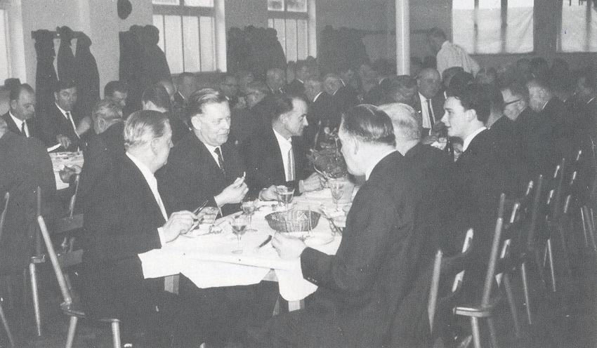 Dreikönigs-Imbs 1965 mit Bürgermeister Alfons Manger, Herrmann Linzenmeier