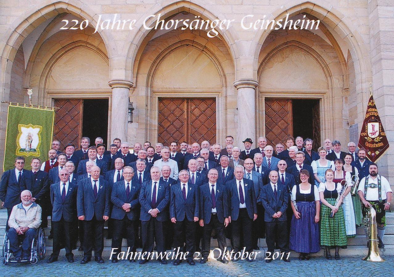 Chorsänger mit Chor aus Steingaden zur Fahnenweihe 2011