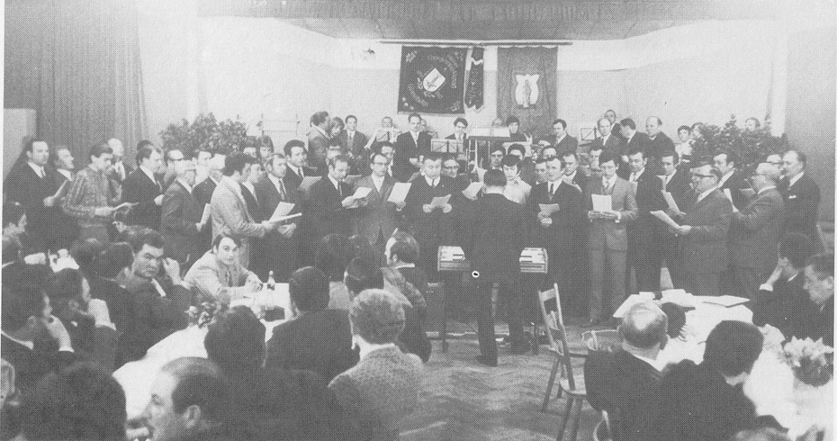 Der Festchor 1972 beim Dreikönigs-Imbs