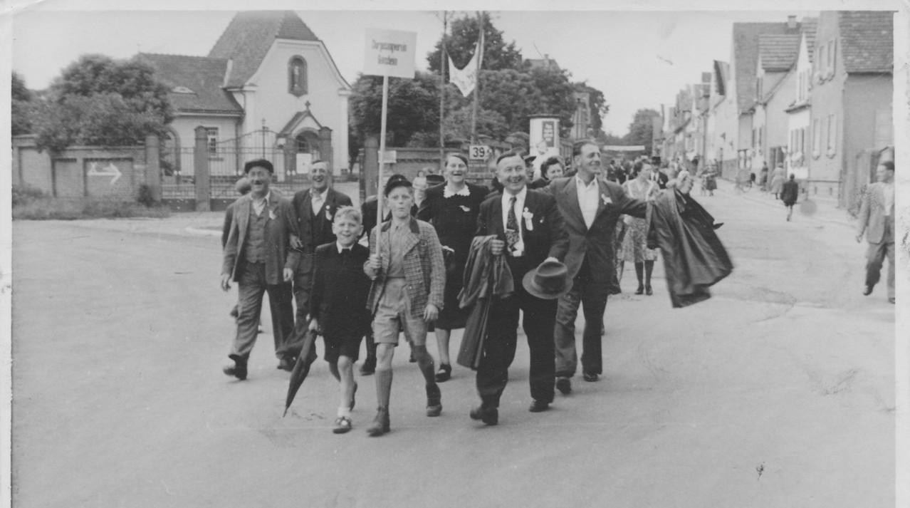 Chorsänger 1953 in Dudenhofen