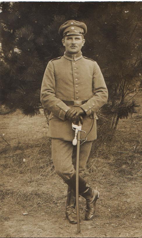 August Steinmetz als Soldat