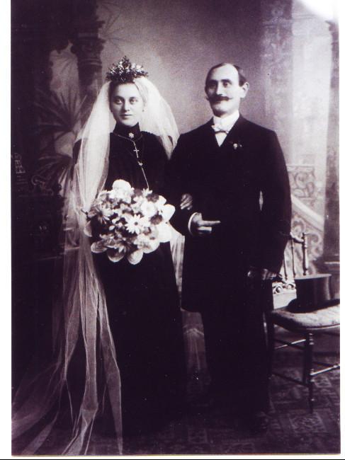 """Ehepaar Kästel Johannes XI (""""Birgikshöfer"""") und Barbara geb. Schreyeck (geheiratet 16.Oktober 1906)"""