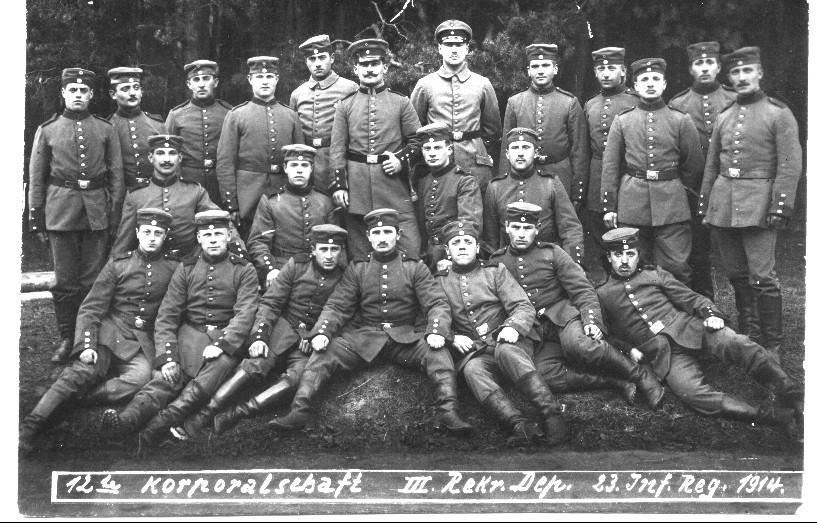 Franz Adam, L. Rößler, 1914 mit Kameraden