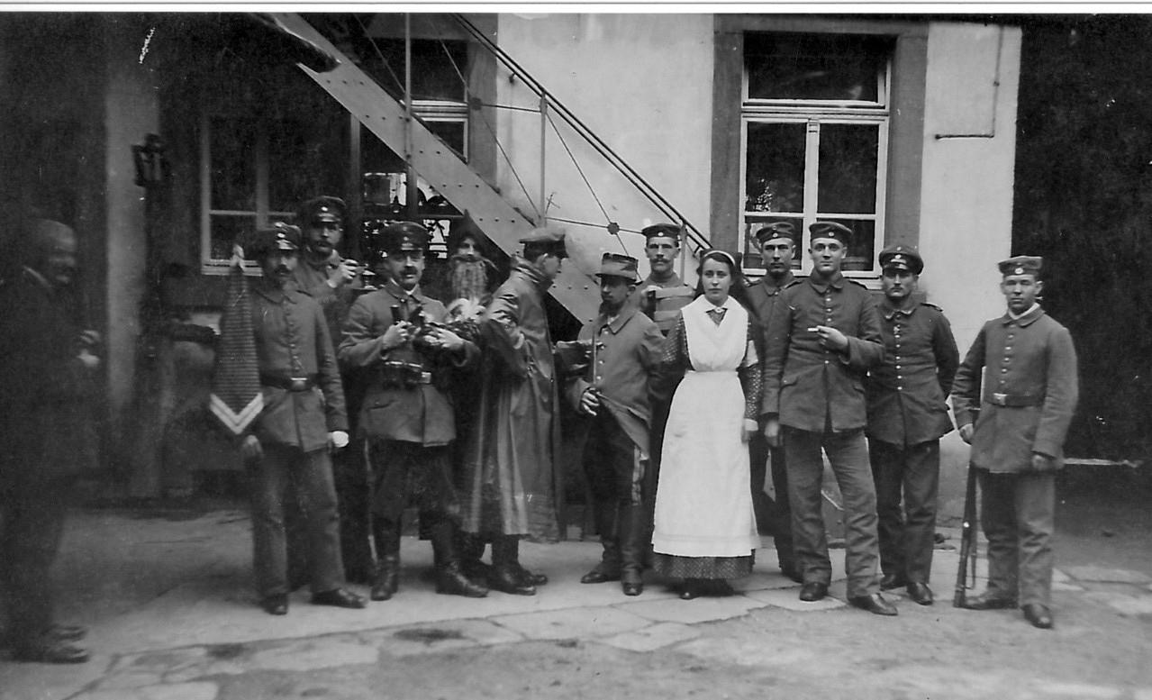 Armanda Tirolf im Lazarett im Schwanen