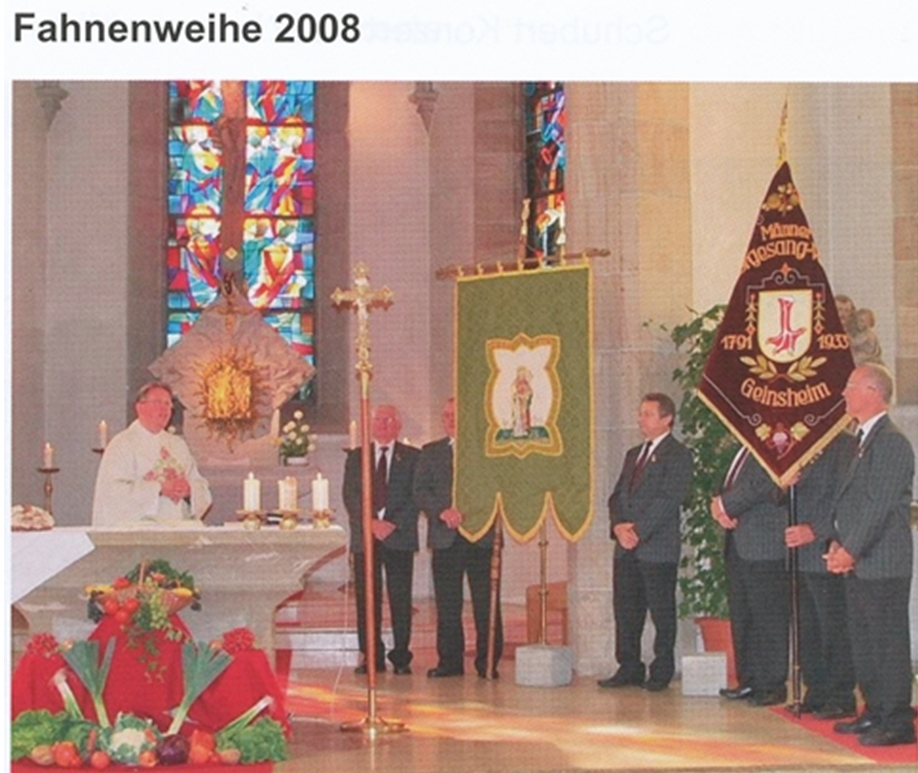 Fahnenweihe der Chorsänger 2008