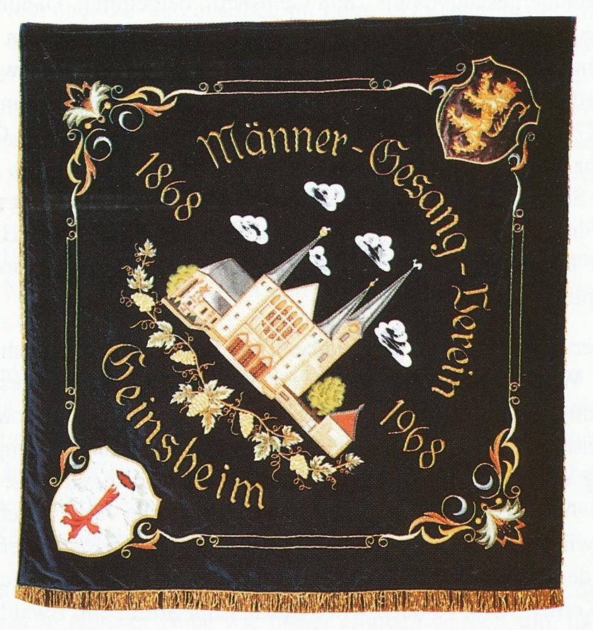 Die Fahne des MGV aus dem 100. Jubiläumsjahr 1968
