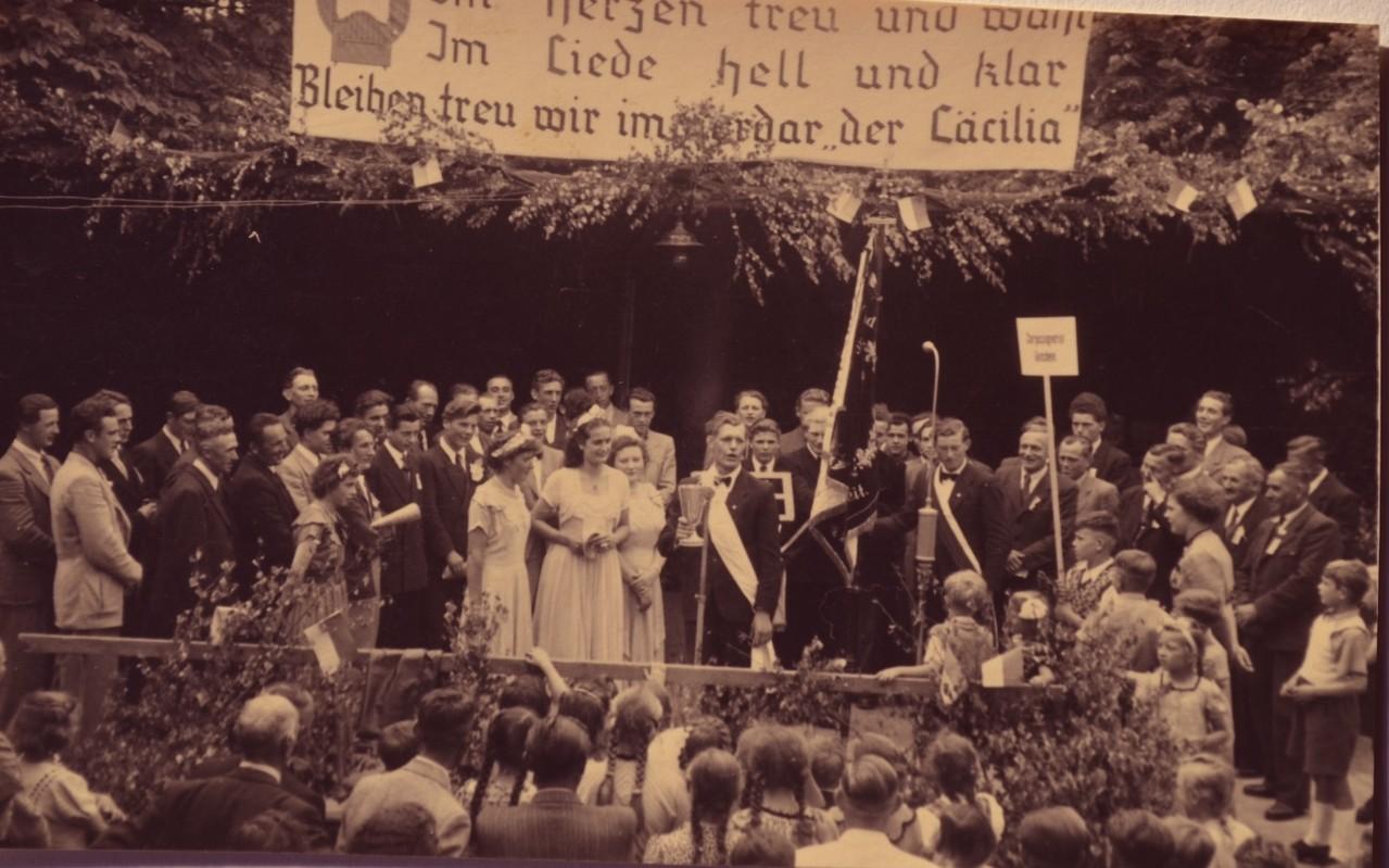 160jähriges Jubiläum der Chorsänger 1951